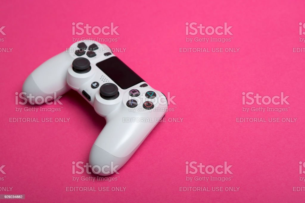 Sony Playstation 4 White stock photo
