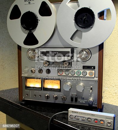 Sony Reel To Reel Sound Tape Recorder Stock Photo Amp More