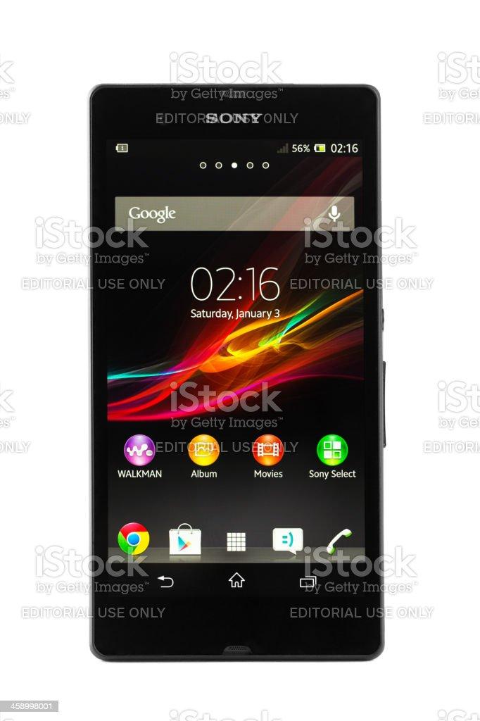 Sony Xperia Z isolated on white stock photo