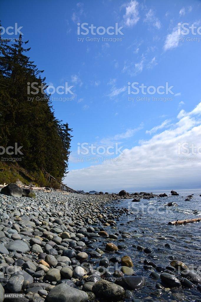 Sooke Beach stock photo
