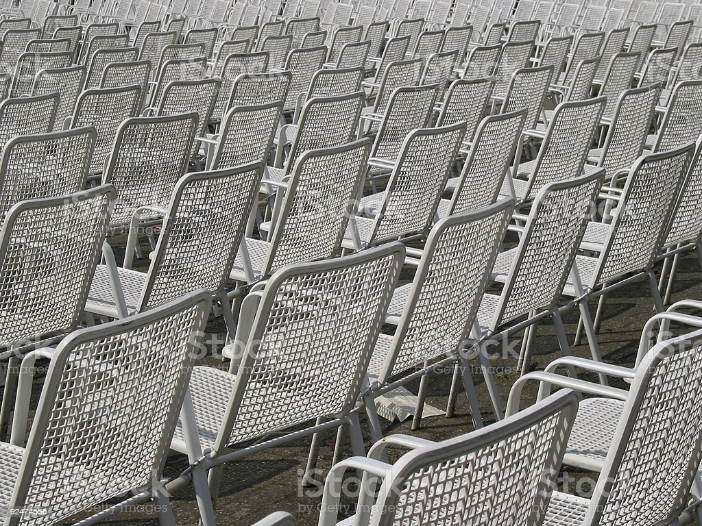 Soon it will be full of people! royalty-free stock photo