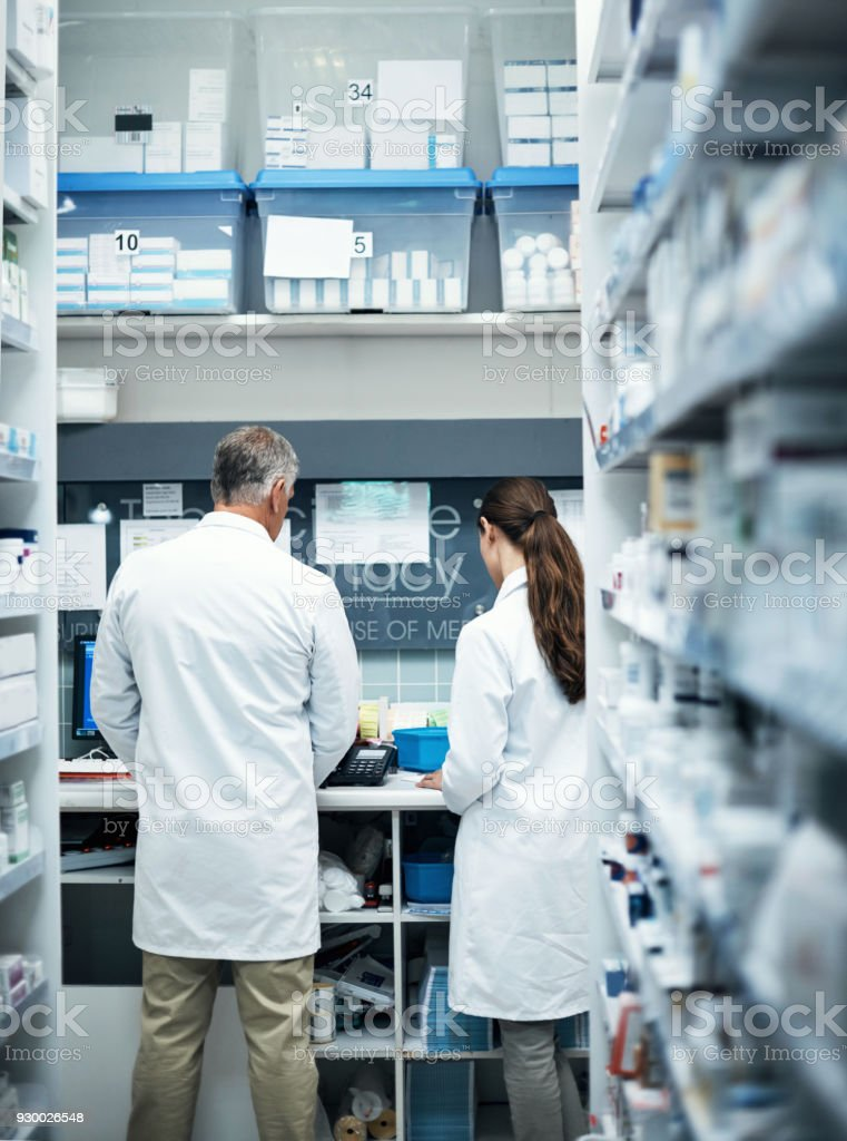 Soon she'll be able to run the dispensary on her own stock photo
