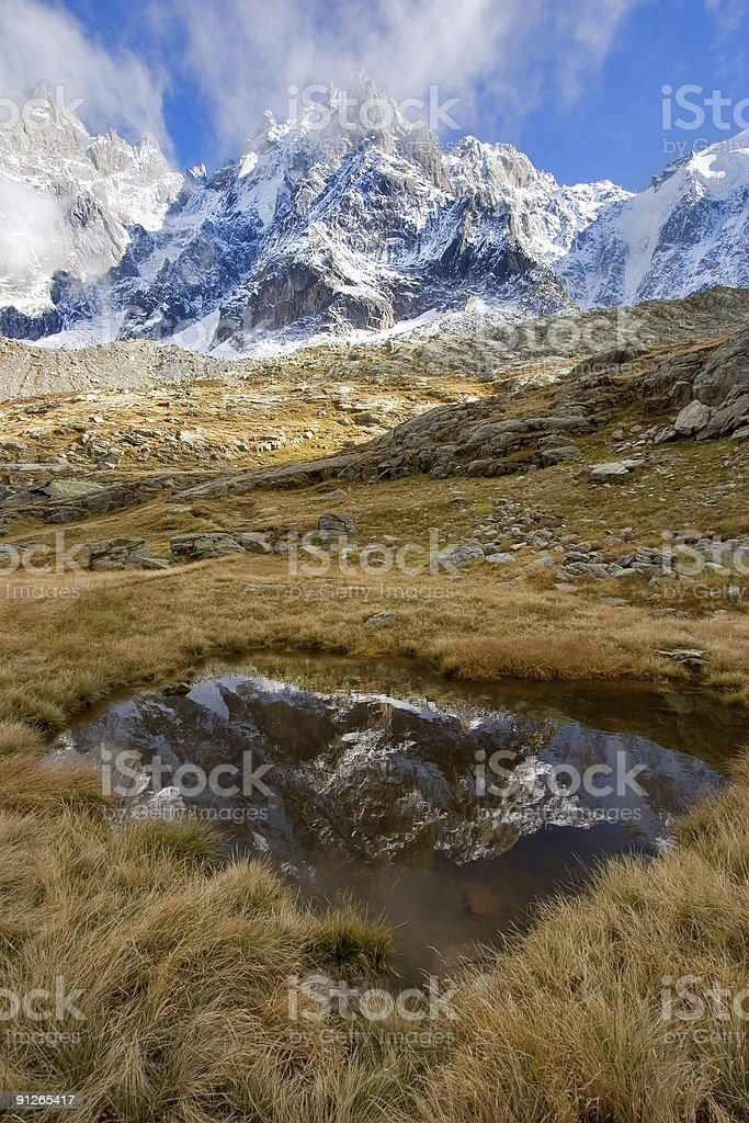 Soon water will freeze. stock photo