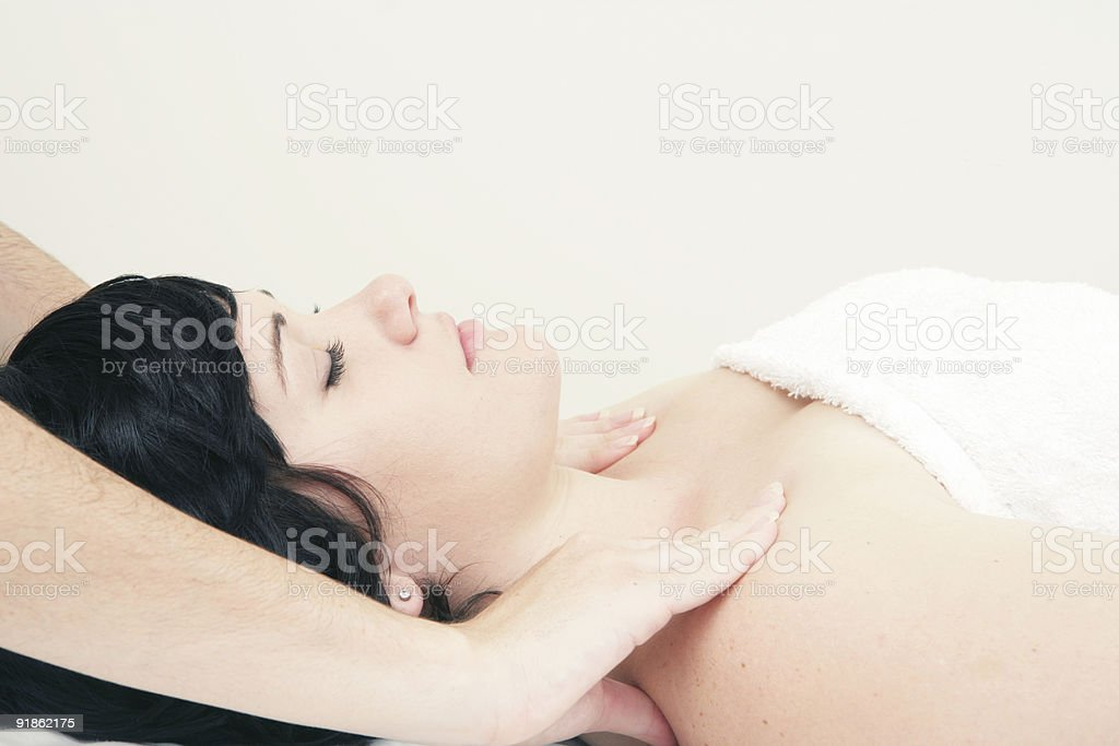 Soothing Hands royalty-free stock photo