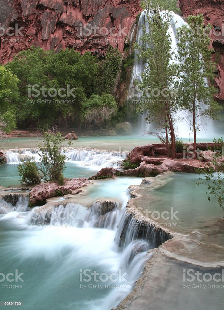 Soothing Waterfalls stock photo