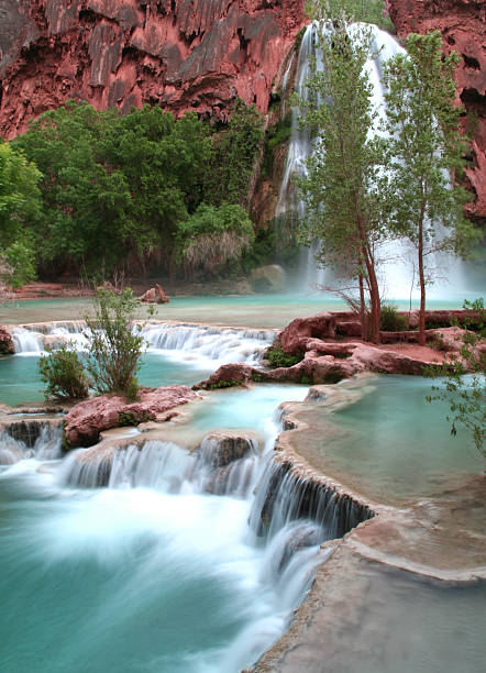 Soothing Waterfalls stock photo
