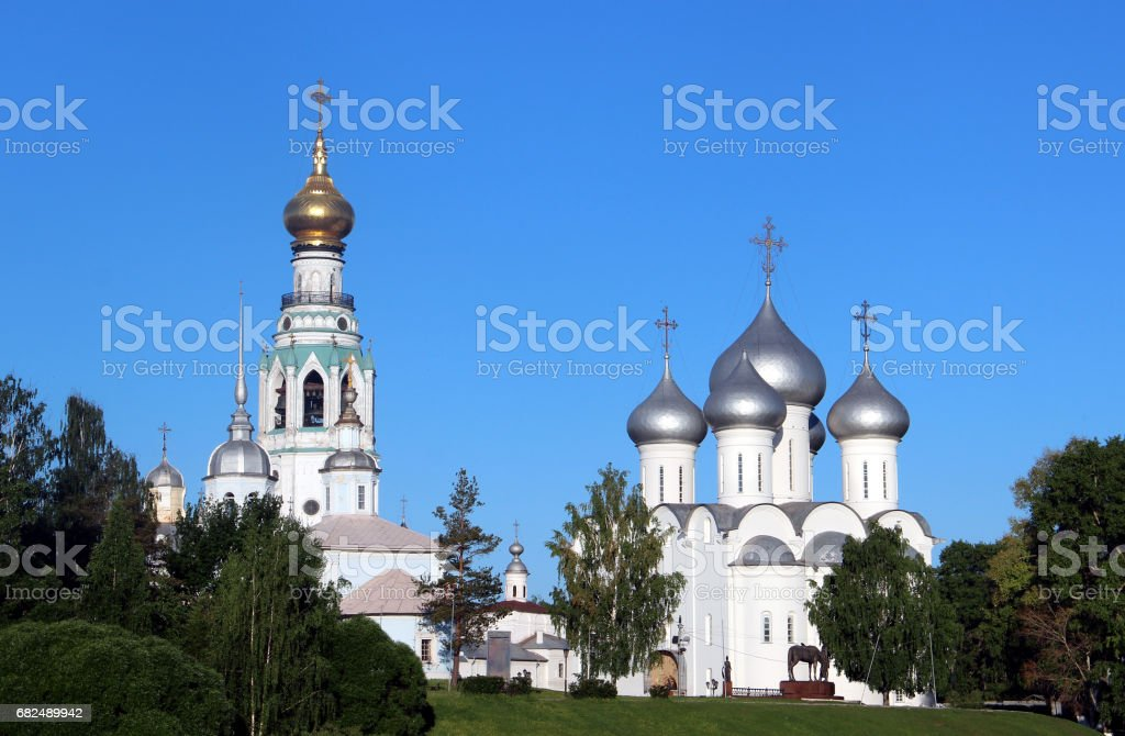 Sophia cathedral in the Vologda, Russia royalty-free stock photo