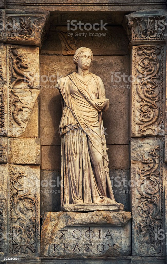 Sophia in Ephesus, Kusadasi, Turkey stock photo