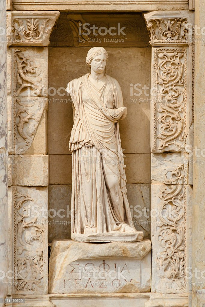 Sophia in Ephesus, The Wisdom royalty-free stock photo