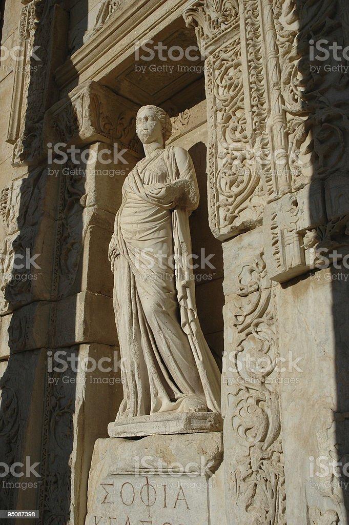 Sophia statue in Ephesus royalty-free stock photo