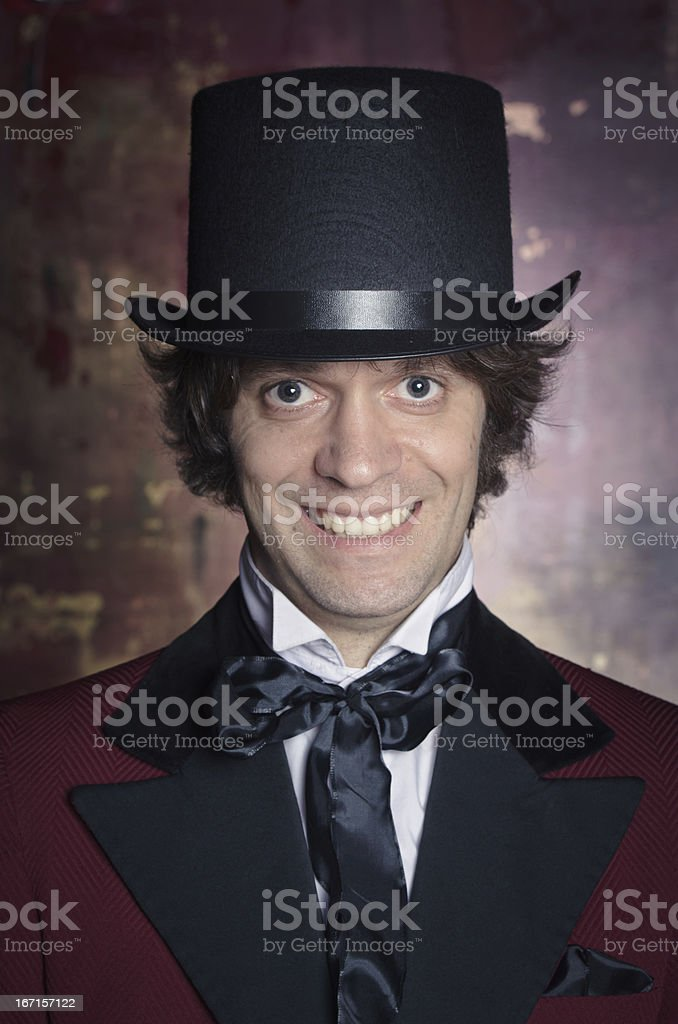 Sophisticated and Classy Looking Man in a Top Hat royalty-free stock photo
