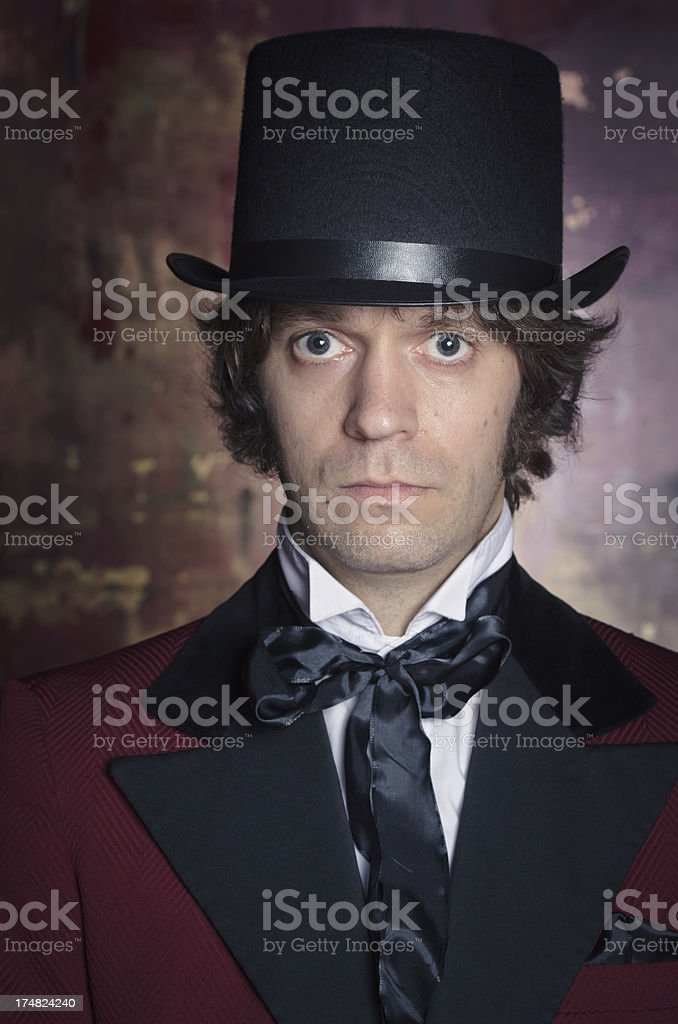 Sophisticated and Classy Looking Man in a Top Hat stock photo