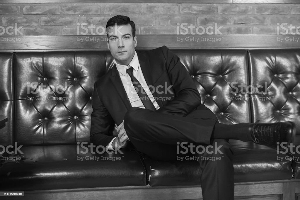 Sophisticated, elegant man stock photo