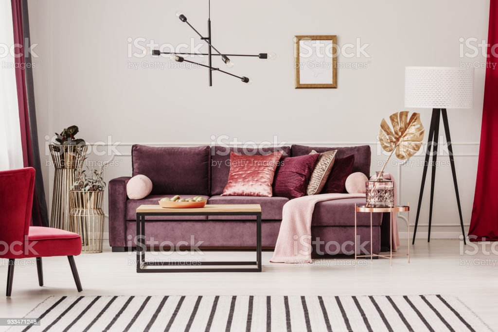 Sophisticated living room interior stock photo