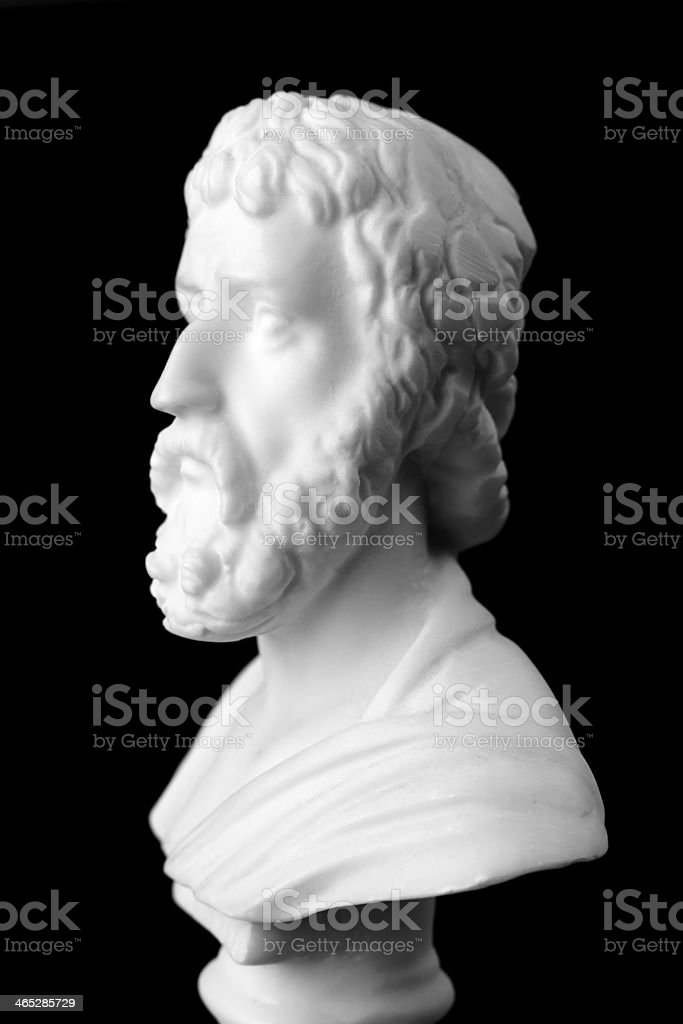 Sophocles was a Greek tragic poet royalty-free stock photo