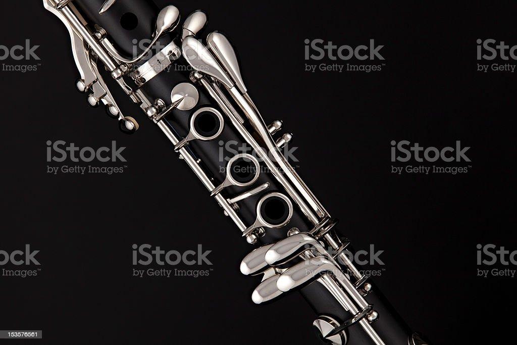 Soprano Clarinet Isolated o Black stock photo