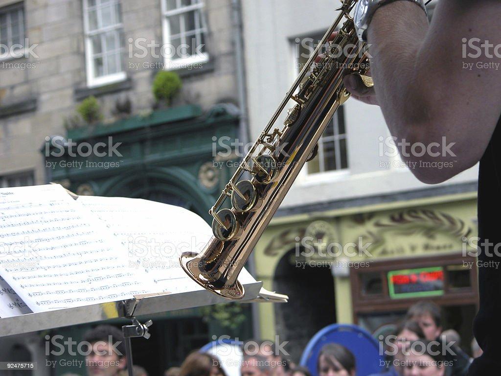 soprano sax stock photo