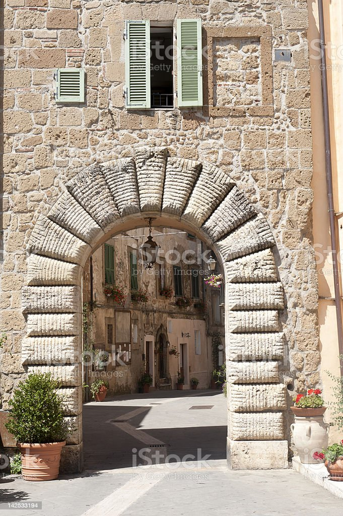 Sorano (Tuscany, Italy) royalty-free stock photo
