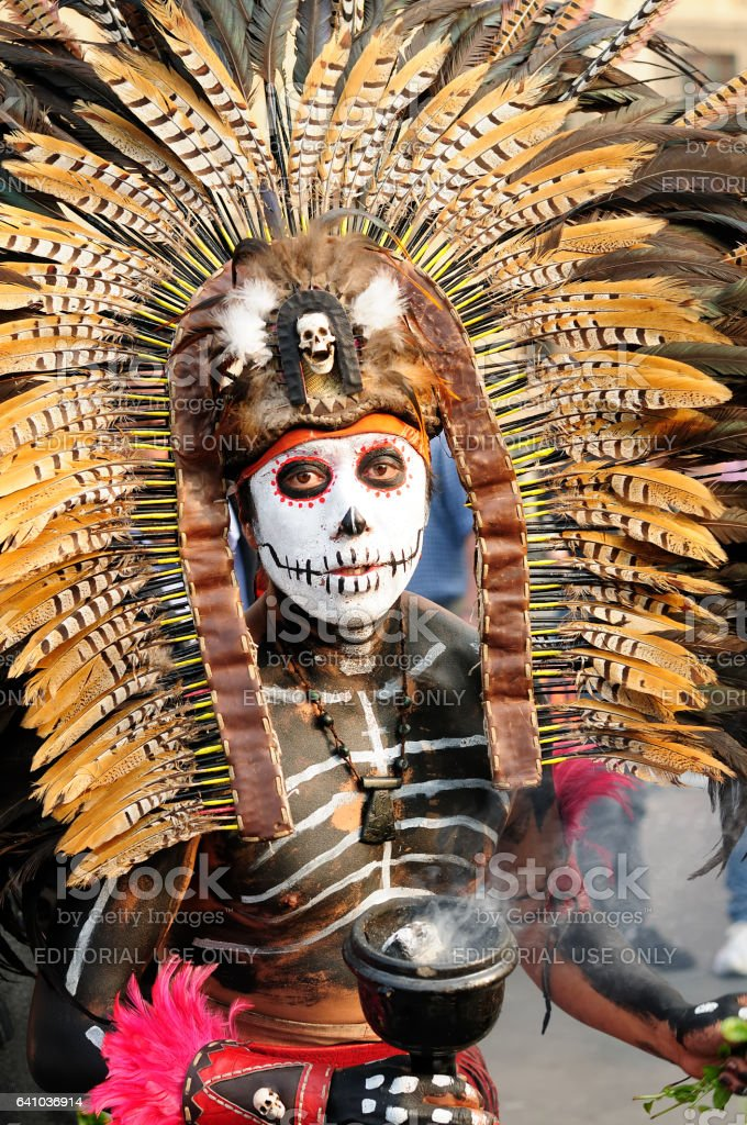 Sorcerer from Mexico stock photo