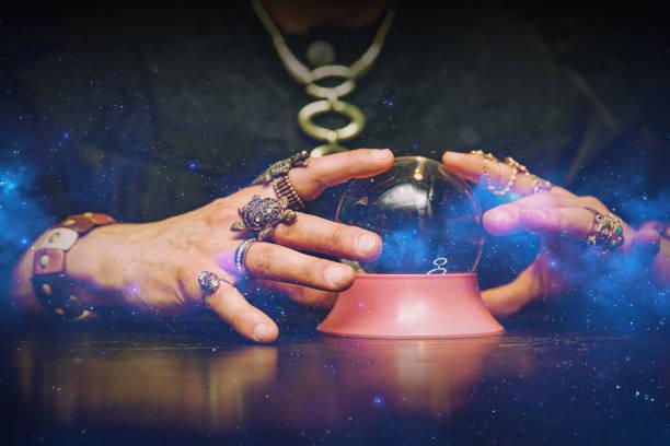 Sorcerer uses a crystal ball to predict the future picture id1187328374?b=1&k=6&m=1187328374&s=612x612&w=0&h=kcrkh7lnwzu88ofbx jrfthaq 0sg8fp0fsv15kfw w=