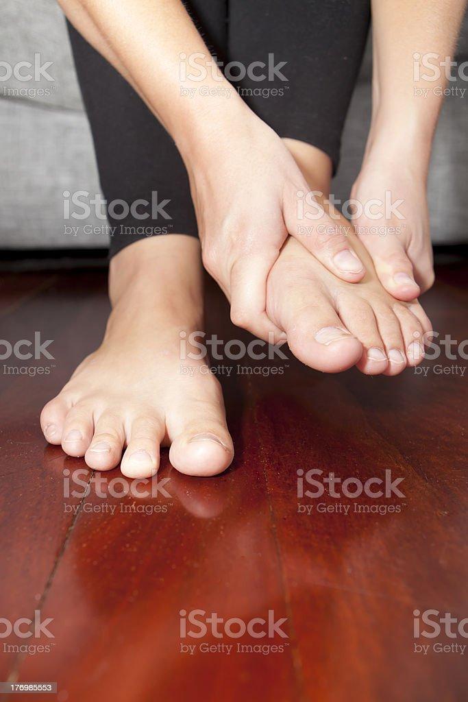 Sore feet stock photo