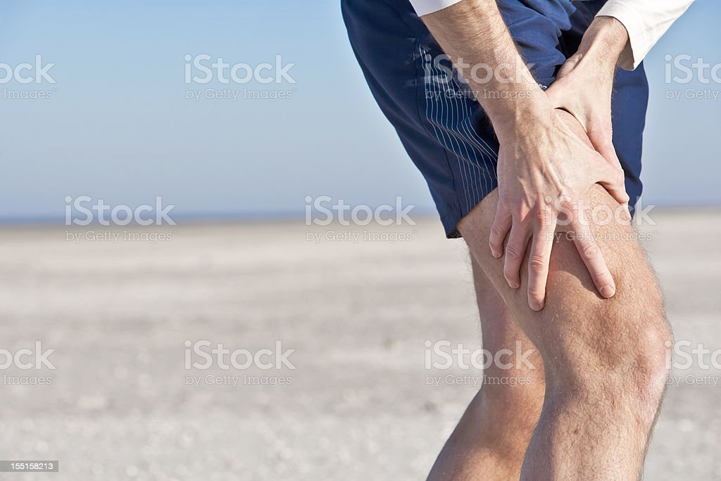 Sore muscle stock photo