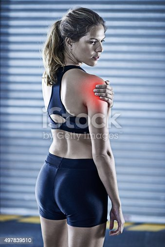 istock Sore muscles, happy pain 497839510