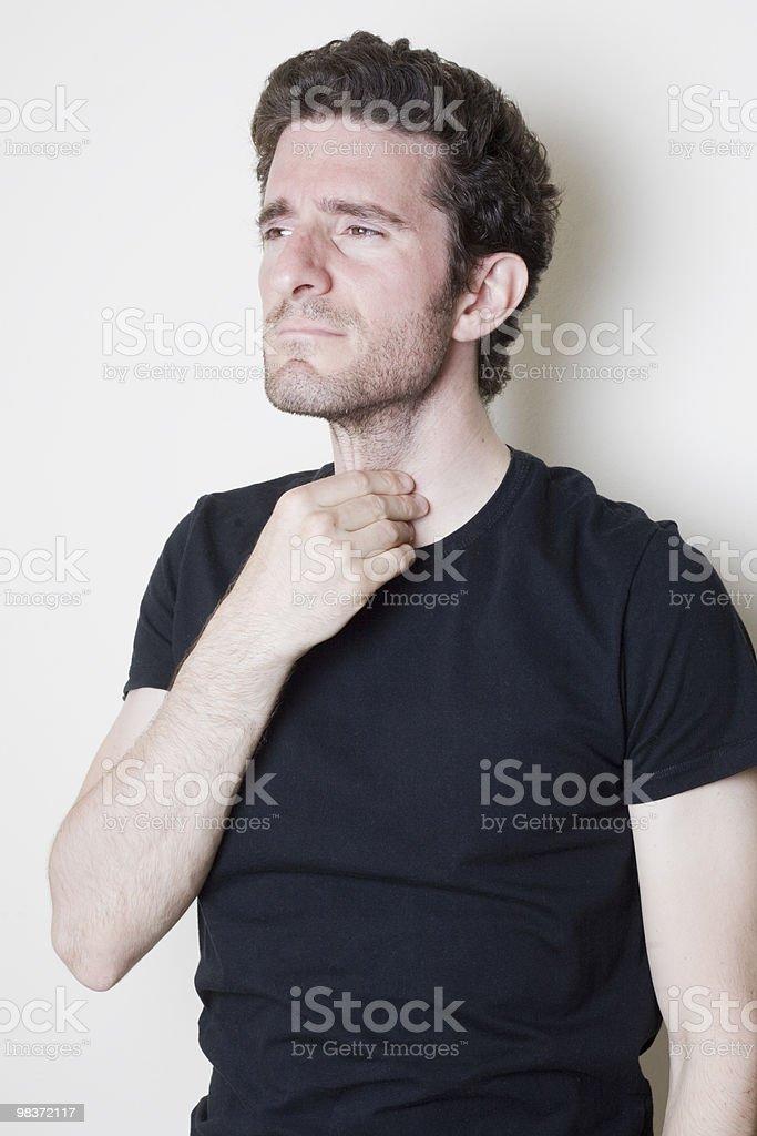 Sore Throat man royalty-free stock photo