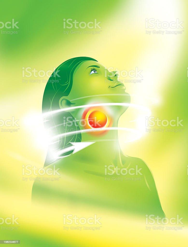 Dor de garganta - foto de acervo