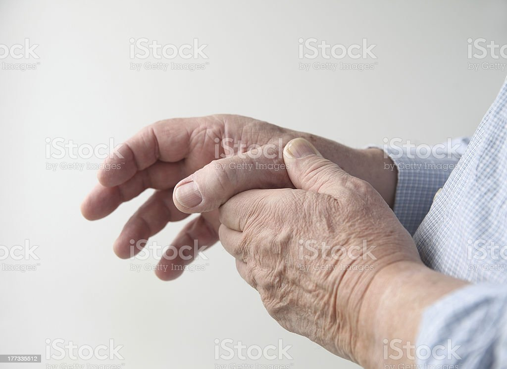 sore thumb stock photo