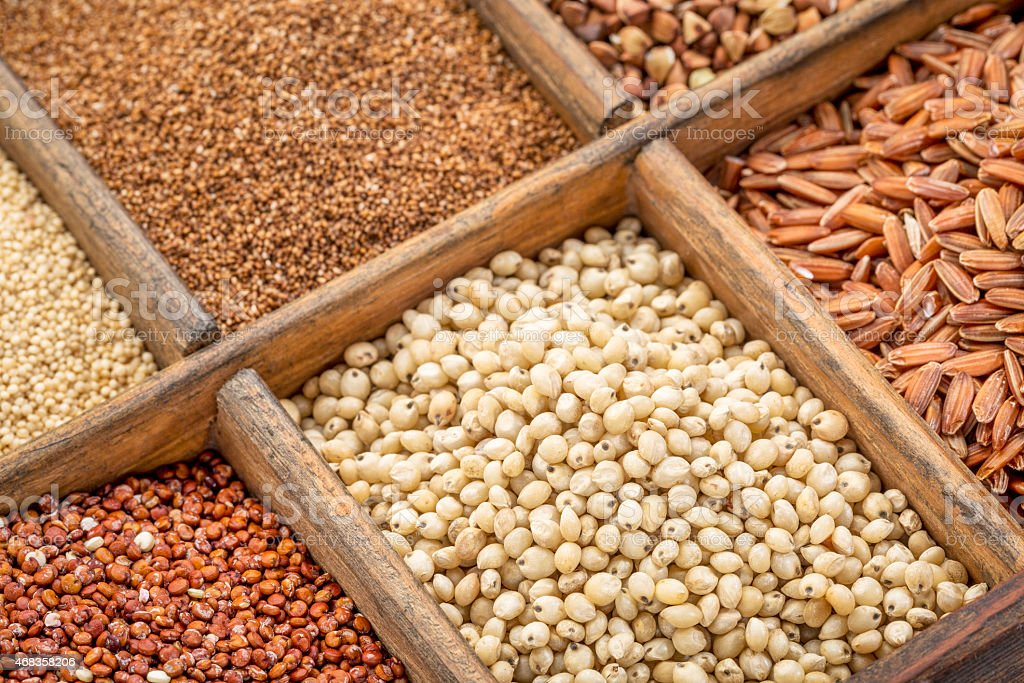 sorghum and other gluten free grains royalty-free stock photo