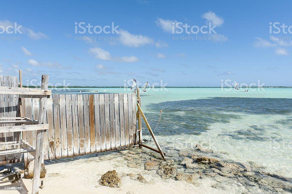 sorobon, bonaire. surfers paradise royalty-free stock photo