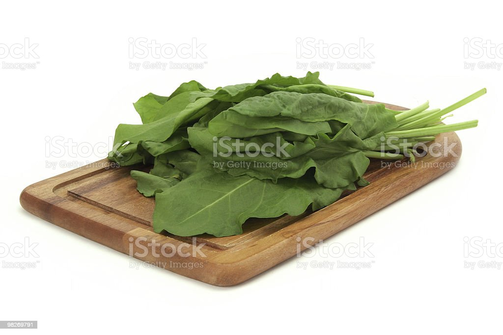 sorrel on a cutting board royalty-free stock photo