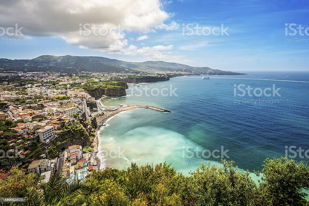Sorrento and the Amalfi Coast stock photo