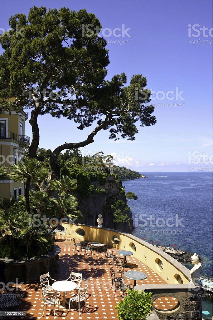 Sorrento Bay from a  hotel, Italy stock photo