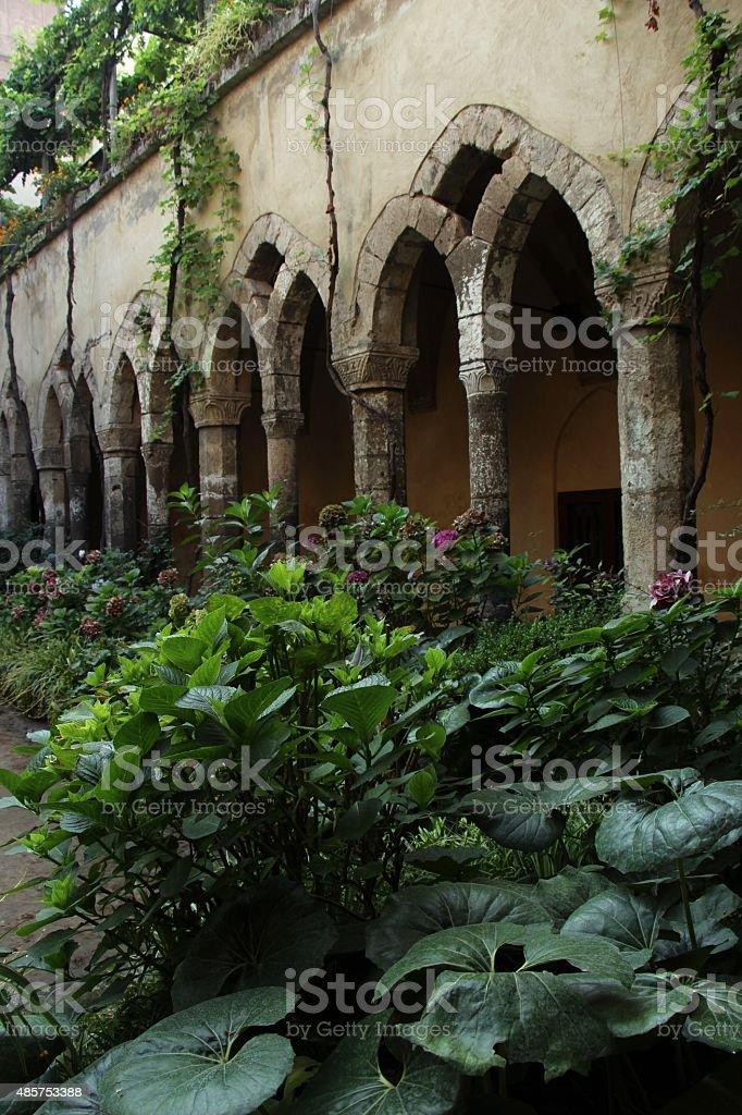 sorrento - cloister of san francesco stock photo