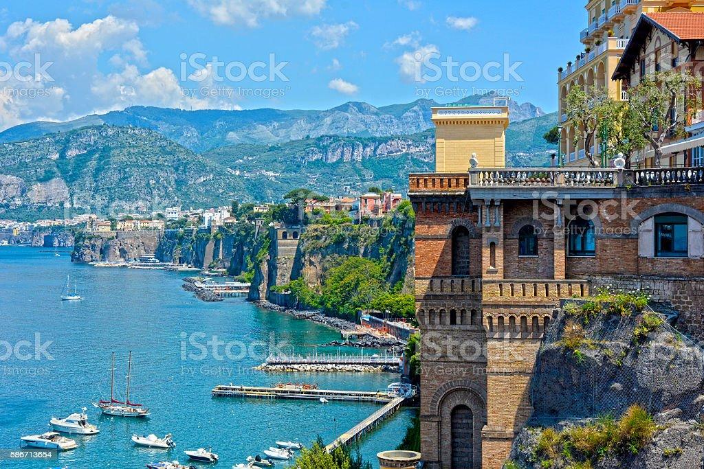 Sorrento coast, Italy stock photo