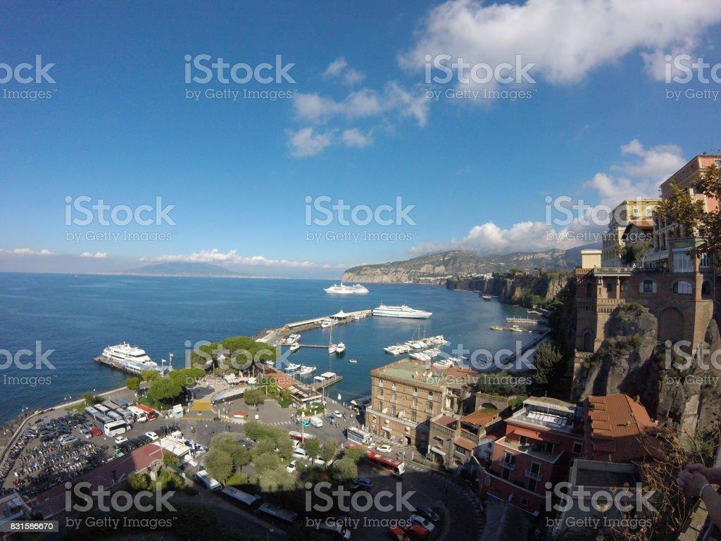 Sorrento Coastline stock photo