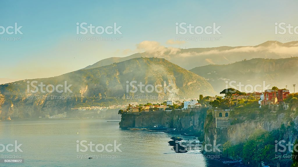 Sorrento is expensive and most beautiful European resort stock photo