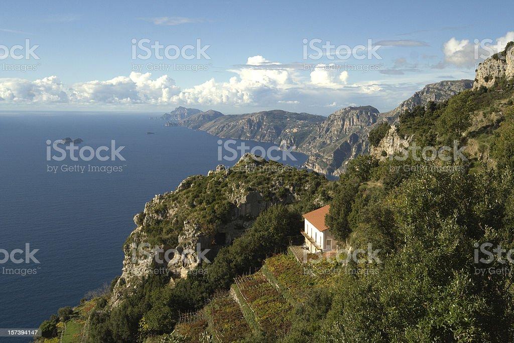 Sorrento peninsula from the 'god's trail' royalty-free stock photo