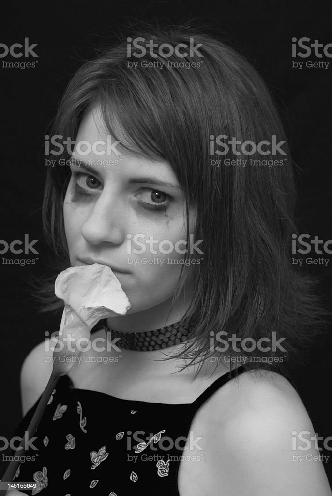Sorrow girl stock photo