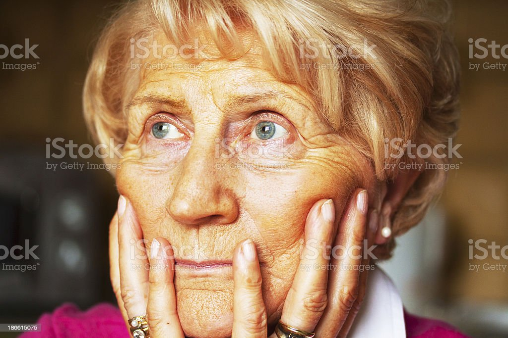 Sorrowful thinking royalty-free stock photo