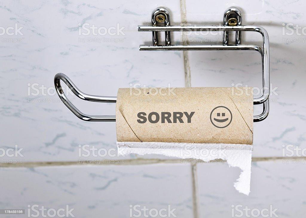 sorry royalty-free stock photo