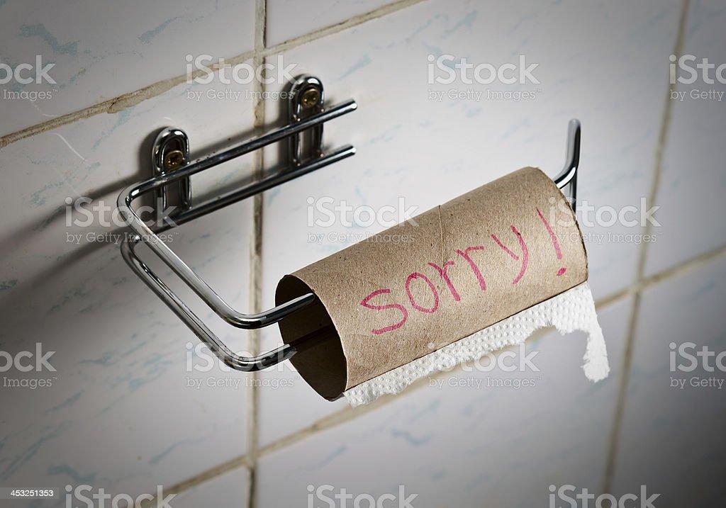 sorry ! stock photo