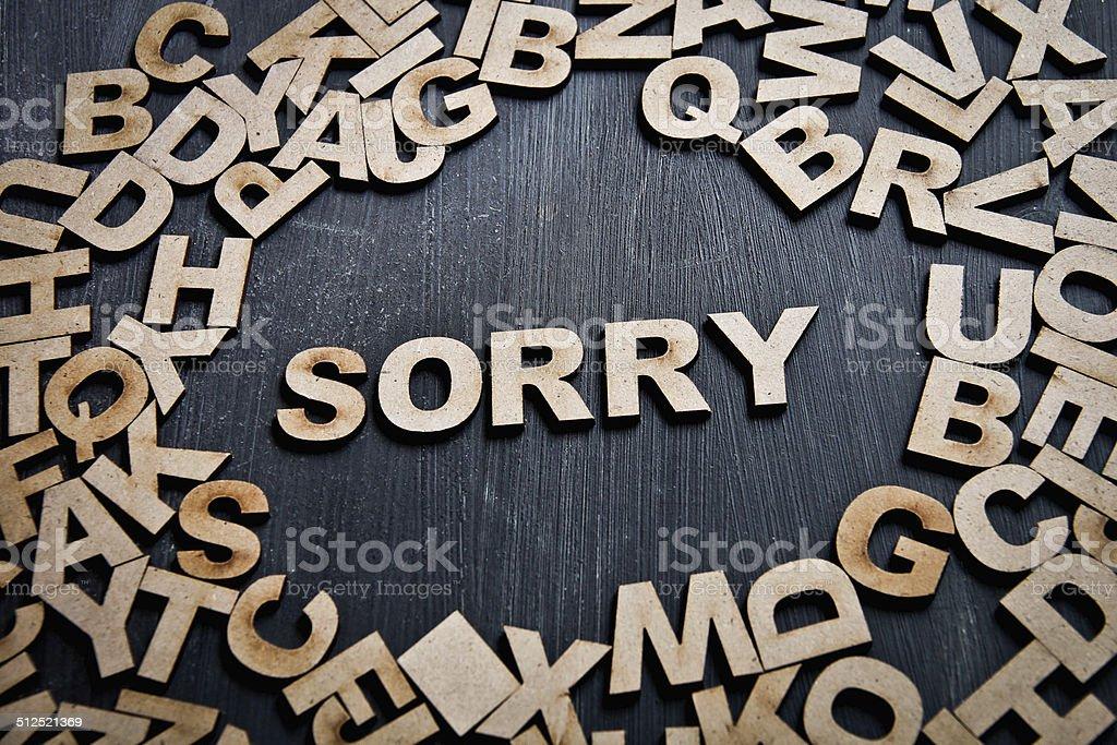 Sorry stock photo