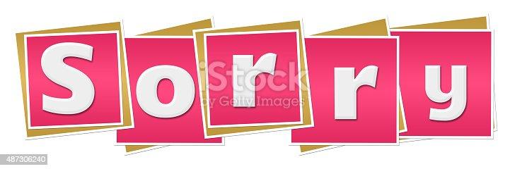 istock Sorry Pink Blocks 487306240