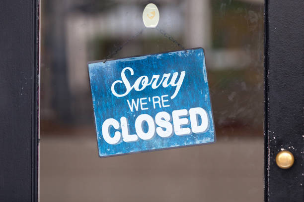 Sorry, we're closed stock photo