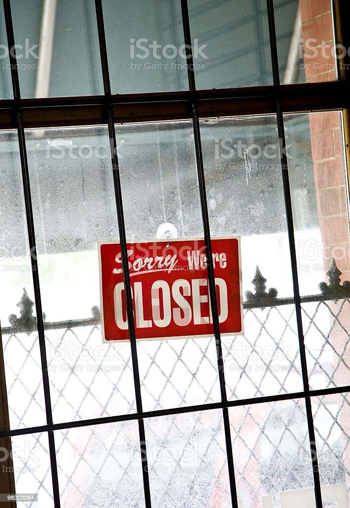 Sorry We're Closed royalty-free stock photo