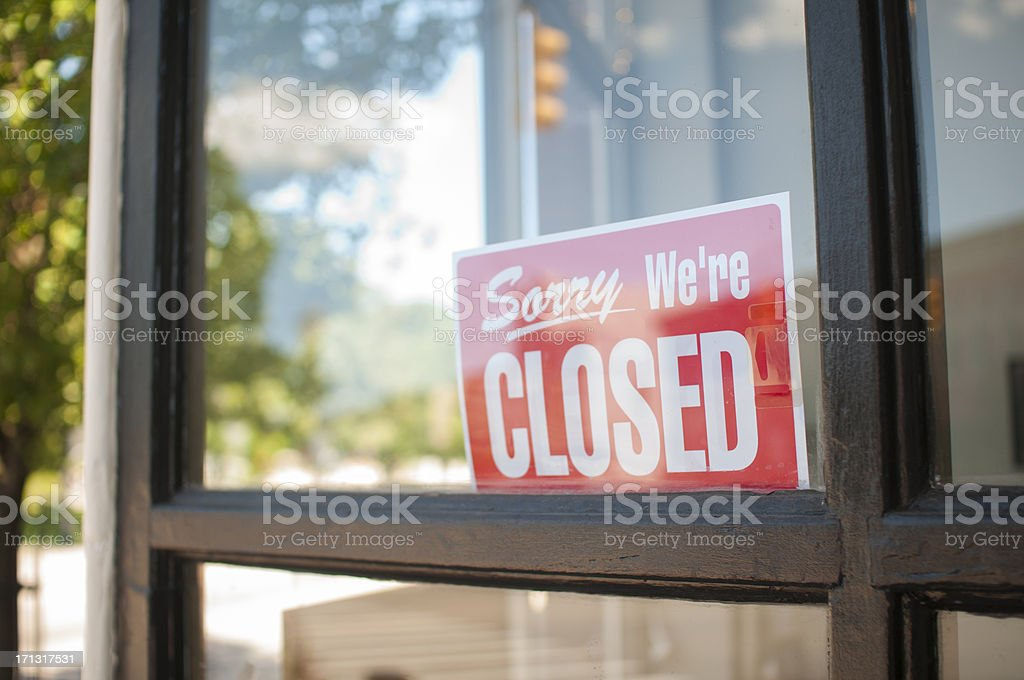 Sorry, We're Closed Sign royalty-free stock photo