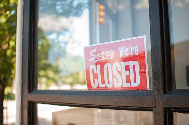 sorry, we're closed sign - closed stock photos and pictures